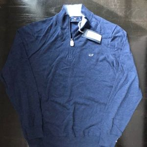 Mens navy vineyard vines half zip pullover sweater
